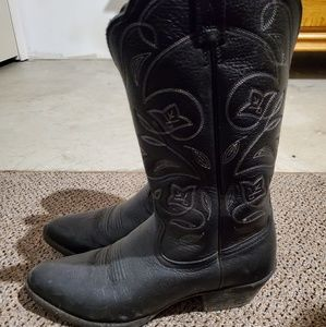 Ariat black cowboy boots